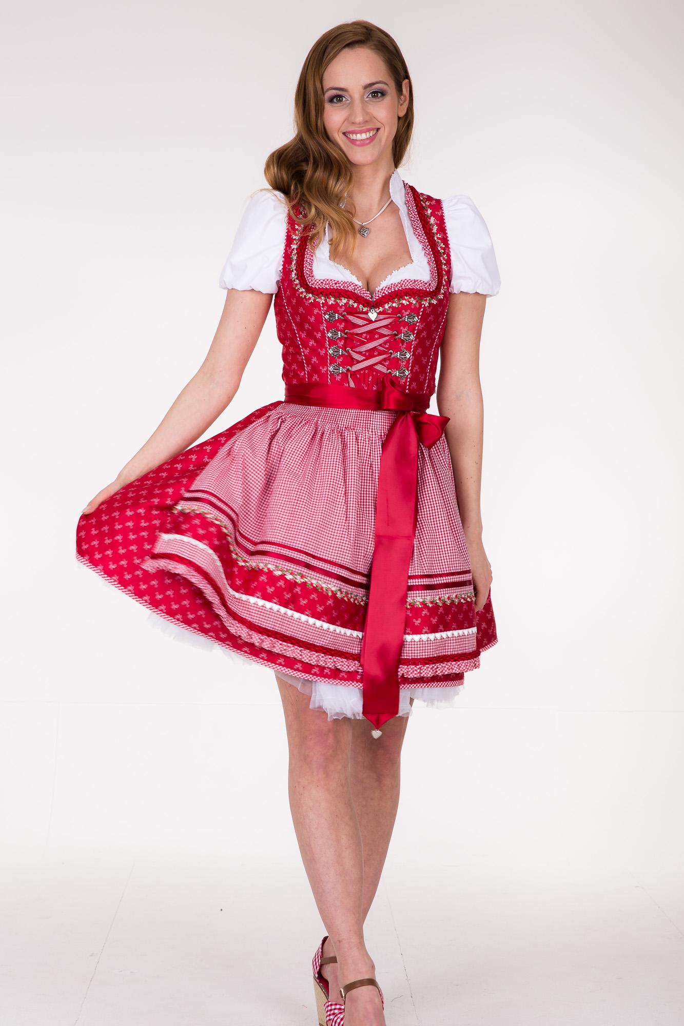 Dirndl Rot V Ausschnitt   Kleider   Damenmode   Bekleidung für Frauen... d7f09115b5
